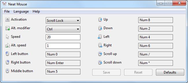 neat mouse screenshot
