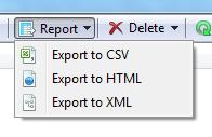 Export duplicate report button