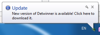Detwinner update notifier